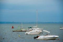 Yttre hamn i Pomorie Royaltyfria Bilder