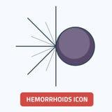 Yttre illustration EPS 10 för hemorrojdersymbolsvektor Arkivbild