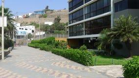 Yttre moderna byggnader i Ancon Arkivbild