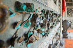 Yttre prydnader av en tempel Arkivfoton