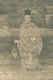 Yttre religiös målning för tappning stock illustrationer