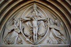 Yttre 6 Sanka Wenceslas Cathedral Olomouc Czech Republic arkivbild