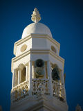 Yttre sikt av Al-Jama Mosque minater, Shibam, Hadhramaut, Yemen arkivfoton