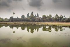 Yttre sikt av Angkor Wat Royaltyfria Bilder