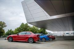 Yttre sikt av BMW museet royaltyfria bilder