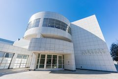Yttre sikt av den berömda Crocker Art Museum fotografering för bildbyråer