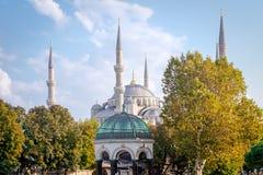 Yttre sikt av den blåa moskén Royaltyfri Fotografi