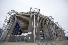 Yttre sikt av den Brondby arenan royaltyfri foto