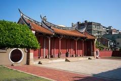 Yttre sikt av den Changhua templet av Konfucius Taiwan arkivfoton