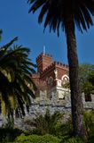 Yttre sikt av den D-`-Albertis slotten - Genoa Landmarks fotografering för bildbyråer