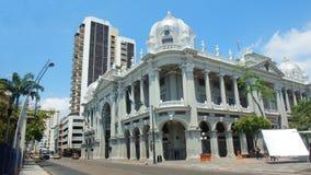 Yttre sikt av den kommunala slotten av staden av Guayaquil Det invigdes på Februari 27, 1929 Royaltyfria Bilder