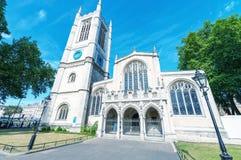 Yttre sikt av den Westminster abbotskloster i London Royaltyfria Foton