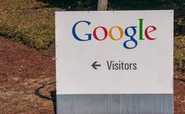 Yttre sikt av det Google kontoret Arkivfoto
