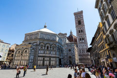 Yttre sikt av Florence Baptistery Fotografering för Bildbyråer