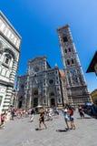Yttre sikt av Florence Cathedral i Italien Arkivfoto