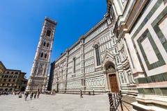 Yttre sikt av Florence Cathedral i Italien Arkivfoton