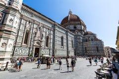 Yttre sikt av Florence Cathedral i Italien Royaltyfria Bilder