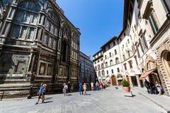 Yttre sikt av Florence Cathedral i Italien Royaltyfri Foto
