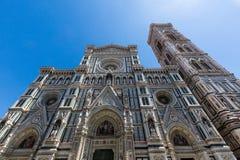 Yttre sikt av Florence Cathedral i Italien Arkivbild