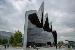 Yttre sikt av Glasgow Riverside Museum, Skottland Royaltyfri Fotografi