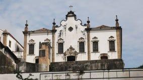 Yttre sikt av kloster St Anthony i Rio de Janeiro arkivfilmer