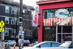 Yttre sikt av Sams krog Seattle, Washington royaltyfri bild