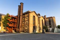 Yttre sikt av Santral Istanbul det gamla kraftverkmuseet Royaltyfria Foton