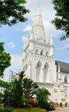 Yttre sikt av St Andrews Cathedral i Singapore Royaltyfria Foton