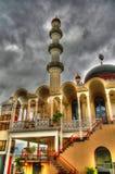 Yttre sikt till den Keizerstraat moskén, Paramaribo, Surinam Arkivfoton