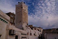 Yttre sikt till moskén för Herr Ramadan, Casbah av Algiers, Algeriet Arkivfoto