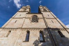 Yttre sikter av olika hus och kyrkor i Zurich Royaltyfri Bild