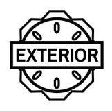 YTTRE stämpel på vit vektor illustrationer