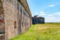 Yttre vägg av fortet Pickens arkivbild