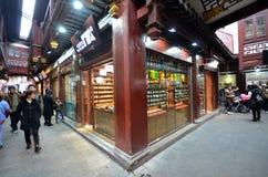 Yu元Yu庭院老街道在上海,中国 库存照片