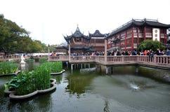 Yu元Yu庭院老街道在上海,中国 免版税图库摄影
