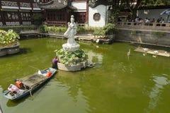 Yu庭院在上海,中国 库存图片