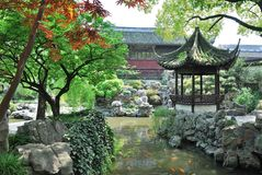 Yu庭院景观 免版税库存照片