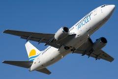 YU-ANJ Aviolet, Boeing 737-3H9 stock photos