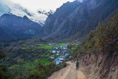 Yu Beng Village alla montagna della neve di Meili fotografia stock libera da diritti