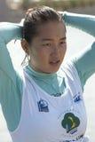 Yu Fei Song. PUTRAJAYA, MALAYSIA - OCTOBER 9: Yu Fei Song from China after showing skills at 2011 IWWF Asian Waterski & Wakeboard Championships in Putrajaya Stock Photos