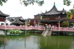 Yu garden, historical chinese garden in Shanghai royalty free stock photography