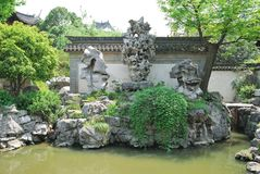 Yu Garden landscape architecture Stock Photos