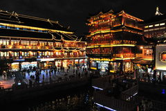 Yu Garden in shanghai in night Stock Images