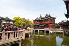 Yu Garden in Shanghai. This is a view from Yu Yuan Garden in Shanghai Stock Photos