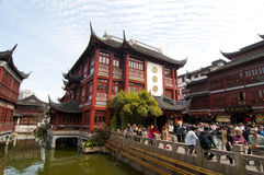 Yu Garden in Shanghai. This is a view from Yu Yuan Garden in Shanghai Stock Image