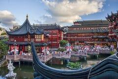 Yu-Garten in Shanghai Stockbild