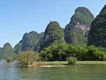 Yu Long river Karst mountain landscape in Yangshuo Stock Photography