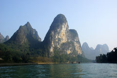 Yu Long river landscape in Yangshuo, Guilin, Guanxi, China Royalty Free Stock Image