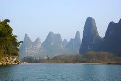 Yu Long river landscape in Yangshuo, Guilin, Guanxi, China Royalty Free Stock Photography