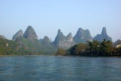 Yu Long river landscape in Yangshuo, Guilin, Guanxi, China Stock Photography